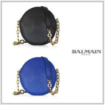 BALMAIN Calfskin 2WAY Chain Plain Elegant Style Shoulder Bags