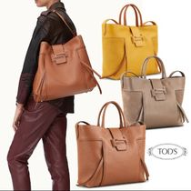 TOD'S Plain Leather Totes