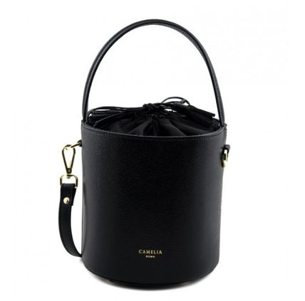 Tassel 2WAY Plain Leather Elegant Style Crossbody Handbags