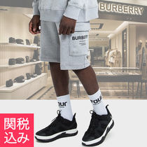 Burberry Plain Cotton Cargo Shorts