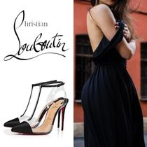 Christian Louboutin Nosy Plain Pin Heels With Jewels Elegant Style Heeled Sandals
