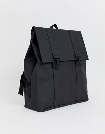 A4 Plain Elegant Style Backpacks