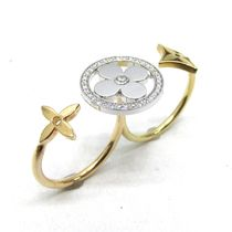 Louis Vuitton Flower Party Style 18K Gold Rings
