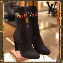 Louis Vuitton Blended Fabrics Block Heels Ankle & Booties Boots