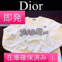 Christian Dior Crew Neck Pullovers Unisex Street Style Collaboration