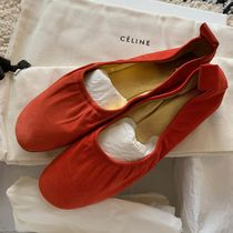 CELINE Plain Leather Ballet Shoes