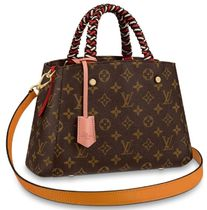 Louis Vuitton MONTAIGNE Monogram Canvas Blended Fabrics 2WAY Elegant Style Handbags