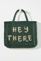 Anthropologie Blended Fabrics Street Style Collaboration Plain Straw Bags