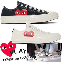 PLAY COMME des GARCONS Heart Unisex Street Style Plain Sneakers