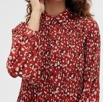 SELECTED Flower Patterns Casual Style Maxi Long Sleeves Long Dresses
