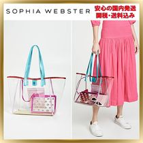 SOPHIA WEBSTER Casual Style Bag in Bag A4 Plain Totes