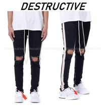 dsrcv Tapered Pants Stripes Denim Street Style Plain Jeans & Denim