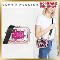 SOPHIA WEBSTER Casual Style Blended Fabrics Plain With Jewels Shoulder Bags