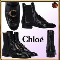 Chloe Chloe C Round Toe Casual Style Other Animal Patterns Leather