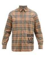 Burberry Button-down Tartan Other Check Patterns Unisex Street Style