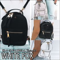 WHITE FOX Casual Style Plain Backpacks