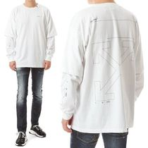 Off-White Long Sleeves Cotton Long Sleeve T-Shirts