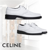 CELINE Leather Oxfords