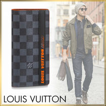 Louis Vuitton DAMIER COBALT Leather Long Wallets