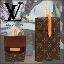 Louis Vuitton MONOGRAM Monogram Blended Fabrics Street Style Accessories