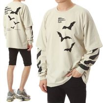 Off-White Crew Neck Long Sleeves Other Animal Patterns Cotton