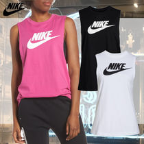 Nike Street Style Plain Cotton Tanks & Camisoles