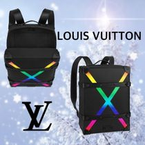Louis Vuitton TAIGA A4 2WAY Leather Backpacks