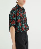 Flower Patterns Short Sleeves Shirts