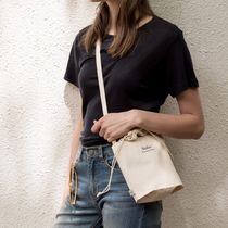 depound Casual Style Unisex Street Style Plain Shoulder Bags