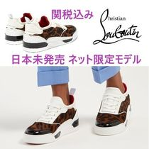 Christian Louboutin Rubber Sole Other Animal Patterns Low-Top Sneakers