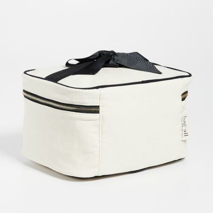 Casual Style Canvas Vanity Bags Plain Bags