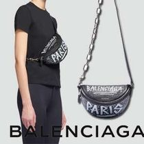 BALENCIAGA Casual Style Street Style Chain Leather Shoulder Bags