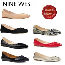 Nine West Street Style Plain Other Animal Patterns Leather