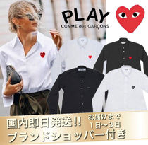 COMME des GARCONS Short Heart Unisex Street Style Long Sleeves Elegant Style