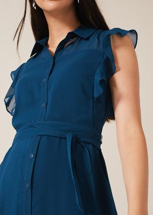 Cotton Medium Shirt Dresses Elegant Style Dresses