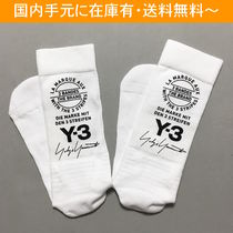 Y-3 Street Style Collaboration Cotton Undershirts & Socks