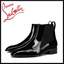 Christian Louboutin Casual Style Plain Leather Chelsea Boots