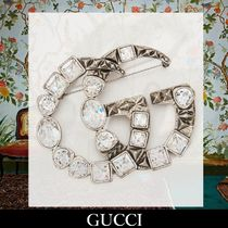 GUCCI Brass With Jewels Elegant Style Party Jewelry