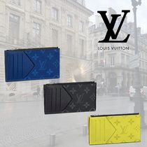 Louis Vuitton TAIGA Monogram Unisex Leather Coin Cases