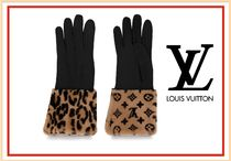 Louis Vuitton Street Style Leather Leather & Faux Leather Gloves