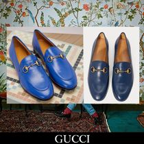 GUCCI Leather Elegant Style Loafer Pumps & Mules