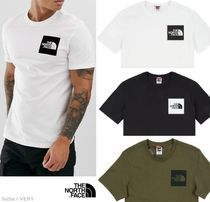 THE NORTH FACE Crew Neck Street Style Cotton Short Sleeves Khaki