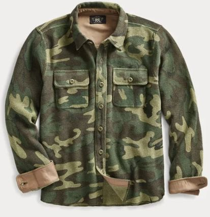 RRL Surf Style Button-down Camouflage Long Sleeves Cotton