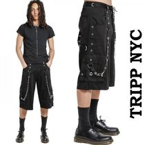 TRIPP NYC Unisex Street Style Plain Cotton Cargo Shorts