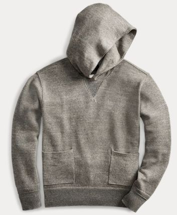 RRL Pullovers Street Style Long Sleeves Plain Cotton Surf Style