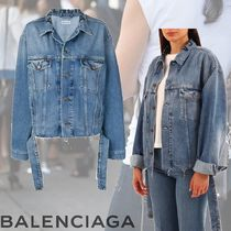 BALENCIAGA Denim Plain Medium Elegant Style Jackets