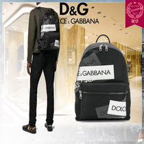 Dolce & Gabbana Unisex Nylon Blended Fabrics Street Style A4 Plain Backpacks