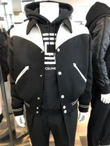 CELINE Short Wool Bi-color Varsity Jackets