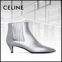 CELINE Leather Party Style Ankle & Booties Boots