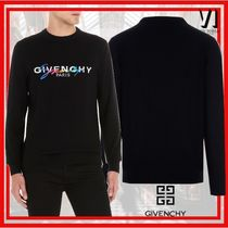 GIVENCHY Pullovers Unisex Wool Long Sleeves Plain Knits & Sweaters